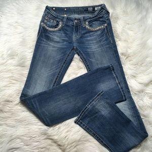Miss Me jeans Women 25 light wash jw6192B Flip poc